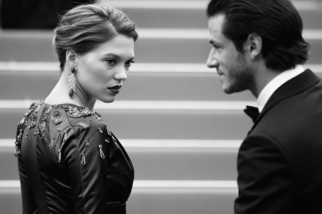 Léa Seydoux and Gaspard Ulliel by Alberto Pizzoli / AFP.